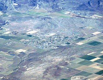 Loa, Utah - Aerial view of Loa