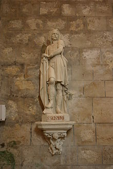 20100702 Saint Sigismund Statue in Larressingle.JPG