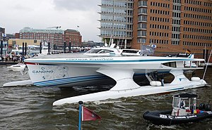 Circumnavigation - In 2012, the Swiss boat PlanetSolar became the first ever solar electric vehicle to circumnavigate the globe