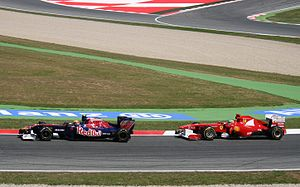 English: Jaime Alguersuari (Toro Rosso) and Fe...