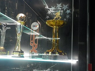 S.L. Benfica (roller hockey) - 2012–13 CERH European League trophy (right) at the Museu Benfica