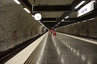 Hallonbergen metro station - Image: 20130601 Stockholm Hallonbergen metro station 6849