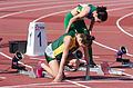 2013 IPC Athletics World Championships - 26072013 - Anrune Liebenberg of South-Africa preparing for the Women's 100m - T46 first semifinal.jpg