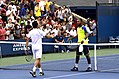 2013 US Open (Tennis) - Qualifying Round - Victor Estrella Burgos and Donald Young (9754460131).jpg