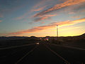 2014-06-10 20 12 35 View west along Wendover Boulevard (Interstate 80 Business Loop) during a pretty sunset in West Wendover, Nevada.JPG
