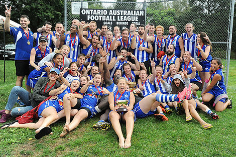 2015 AFL Ontario Men's and Women's Division 1 Premiers