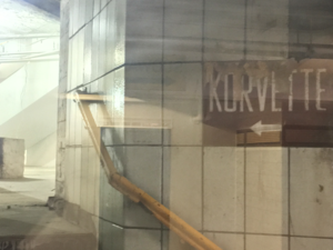 E. J. Korvette - An E.J. Korvette entrance from the tunnel connecting the 33rd Street PATH station and the entrance to the 34th St-Herald Square subway station.