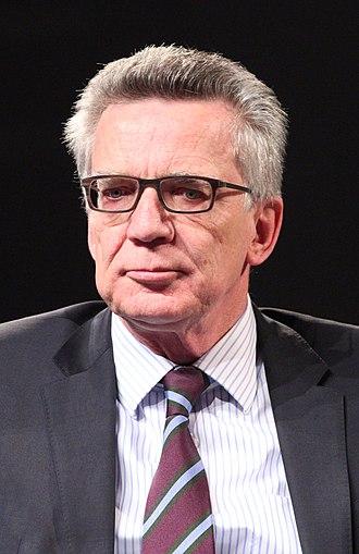Thomas de Maizière - De Maizière in 2017