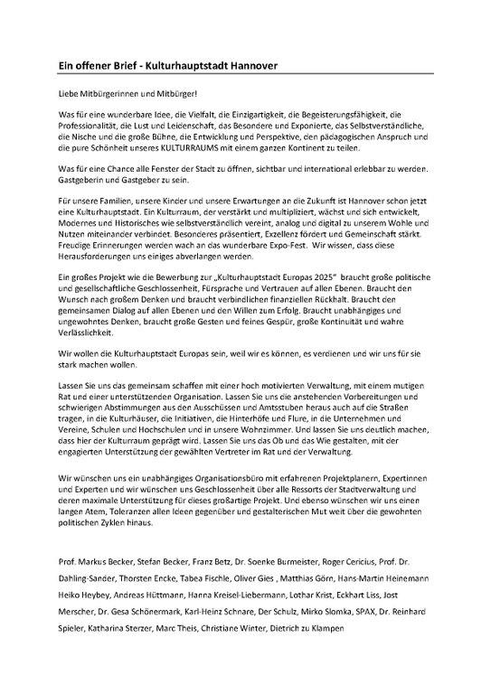 Datei2018 02 Offener Brief Zur Kulturhauptstadtbewerbung Hannover