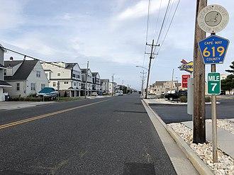 Avalon, New Jersey - CR 619 in Avalon