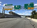 2018-10-24 13 23 36 View west along Virginia State Route 267 (Dulles Toll Road) at the last exit for the Dulles Airport Access Road in McNair, Fairfax County, Virginia.jpg