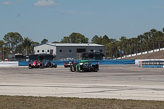 Sebring International Raceway - Sportscars at Sunset Bend at Sebring International Raceway during 2018 12 Hours of Sebring.