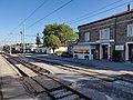 2020-07-05 Ilirska Bistrica train station building from Regiojet 1047 Prague to Rijeka.jpg