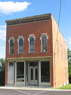 A commercial building in Gilboa's historic downtown