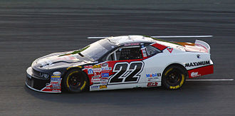 2015 NASCAR Canadian Tire Series - Scott Steckly won the Canadian Tire Series championship and is here seen driving at the Budweiser 300.