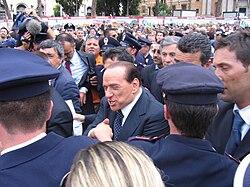 Silvio Berlusconi, capo dell'opposizione, alla Parata del 2 giugno 2007