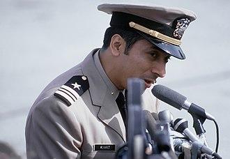 Everett Alvarez Jr. - Alvarez in February 1973, speaking after his release from captivity