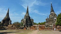 3 Chedis of Wat Phra Sri Sanphet