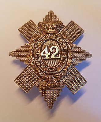 42nd Regiment of Foot - Cap badge of the 42nd Regiment of Foot