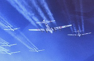 490th Bombardment Group - B-17G Flying Fortresses in Formation during a mission.jpg