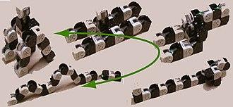 Self-reconfiguring modular robot - Metamorphosis by a self-reconfigurable robot, M-TRAN III