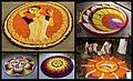 5 image collage of floral arrangement during the Hindu festival of Onam Kerala.jpg