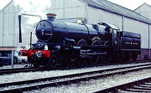 GWR 4073 Class 7029 Clun Castle - Image: 7029 Clun Castle Tyseley '82 (19686476996)