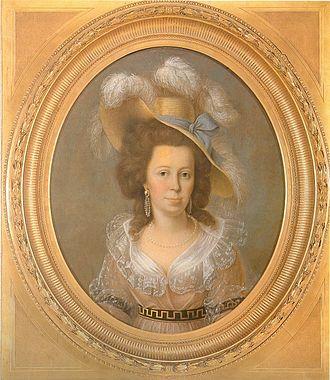 Franziska von Hohenheim - Portrait by Jakob Friedrich Weckherlin, in 1790