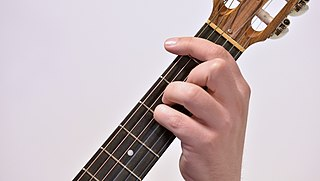 Barre chord Guitar performance technique