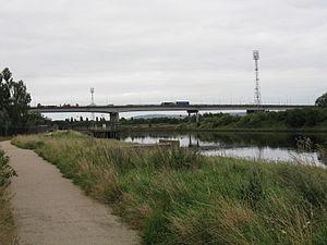 Tees Viaduct - Image: A19 Tees Viaduct