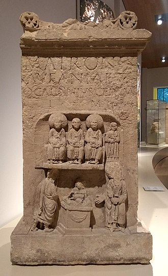 Matres and Matronae - An altar of the Aufanian Matronae, excavated in the Bonn Minster (Rheinisches Landesmuseum Bonn)