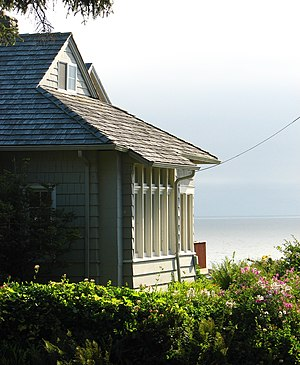 National Register of Historic Places listings in Tillamook County, Oregon - Image: AE Doyle Cottage persp Manzanita Oregon