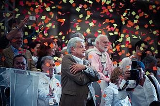 Andrés Manuel López Obrador - López Obrador at Zócalo in 2012