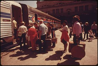 National Limited (Amtrak train) - The National Limited at Kansas City in 1974