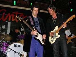 ARC Angels at Antone's in Austin, TX - South by Southwest (2009). Chris Layton, Doyle Bramhall II, Charlie Sexton (L - R).