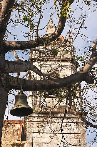 St. Charles Borromeo Cathedral, Matanzas - Image: A Bell and the South Tower of the Matanzas Cathedral