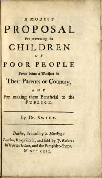 A Modest Proposal - Image: A Modest Proposal 1729 Cover