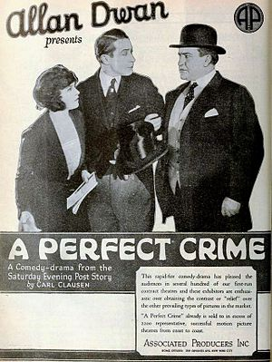 Stanton Heck - Ad for A Perfect Crime (1921) with Jacqueline Logan, Monte Blue, and Stanton Heck