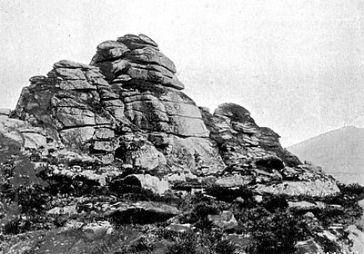 A Tor, Showing Weathering Of Granite - A Book of Dartmoor.jpg