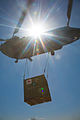 A U.S. Army CH-47 Chinook helicopter lifts a container of mortars for transport May 27, 2013, at Khair Kot Garrison in Paktika province, Afghanistan 130527-A-NQ567-055.jpg