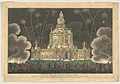A View of the Temple of Concord Erected in the Green Park, to Celebrate the Glorious Peace of 1814, Exhibiting the Fireworks on the 1st of August MET DP856827.jpg