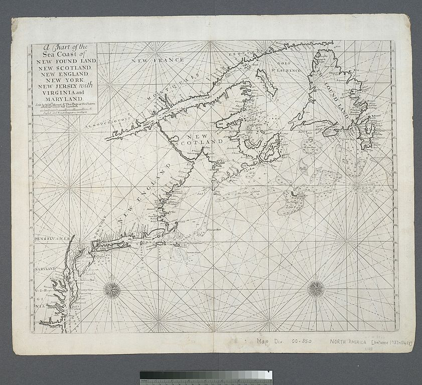 Sea Charts: A chart of the sea coast of New Foundland New Scotland New ,Chart