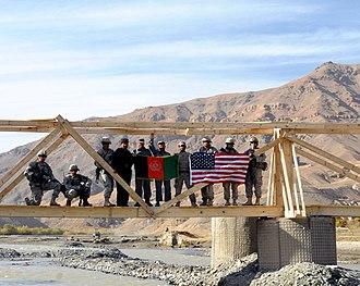 Ghorband River - Image: A footbridge in Ghorband district, Parwan Province, Afghanistan