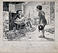 A herb dealer justifies the price of his herbs to an alchemi Wellcome V0025612.jpg