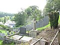 A little nearer to heaven - steeply sloping graveyard at Rhydymain - geograph.org.uk - 504799.jpg
