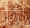 A man being given a bath by three attendants surrounded by o Wellcome V0020009.jpg