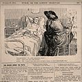 A patient complains to a visitor that he does not discuss wi Wellcome V0011499.jpg