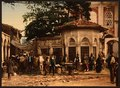 A street at Stamboul with fountain, Constantinople, Turkey-LCCN2001699425.tif