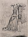 A tall woman wears short feathers in her headdress and a sho Wellcome V0040077.jpg