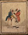 A tooth-drawer extracting a tooth from a patient who is seat Wellcome V0012060EL.jpg